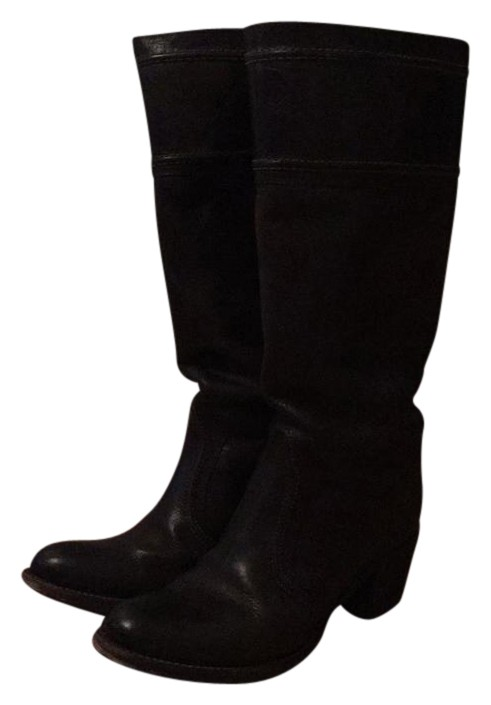 Frye Dark Brown Jane Extended Calf Boots/Booties Size US 9.5 Regular (M, B)