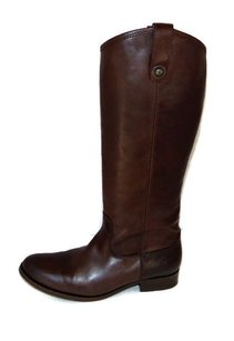 Frye Melissa Button Riding Equestrian Dark Leather Brown Boots