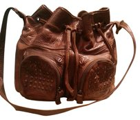Frye Studded Leather Hobo Boho Shoulder Bag