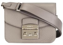 Furla Metropolis Thick Strap Gray Cross Body Bag