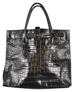 Furla Womens Textured Satchel in Black