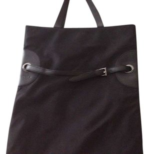 Furla Leather Sateen Tote in Black