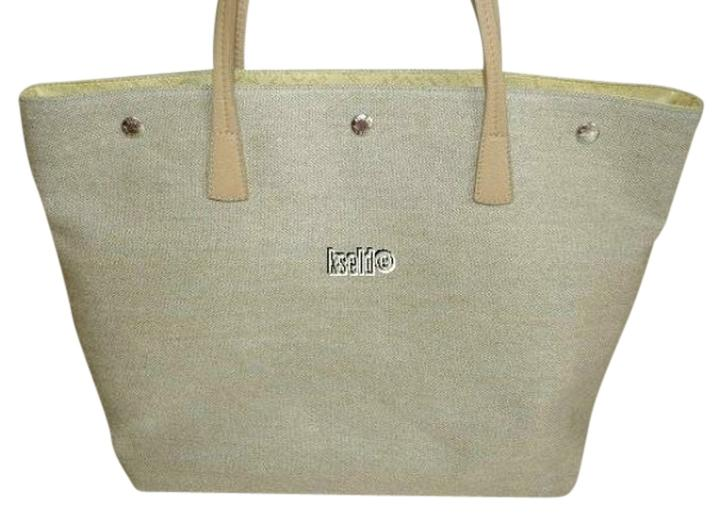 Furla Made In Italy D-light Linen Beige Tan Tote Bag ...