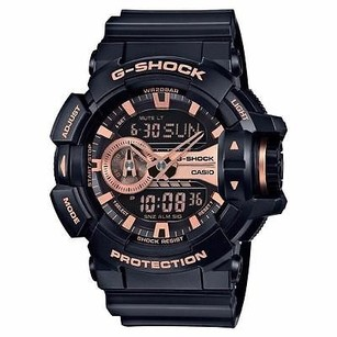 G-Shock G-shock Ga400gb-1a4 Wr Rotary Switch Black Rose Gold Tone Ltd. Edition Ana-digi