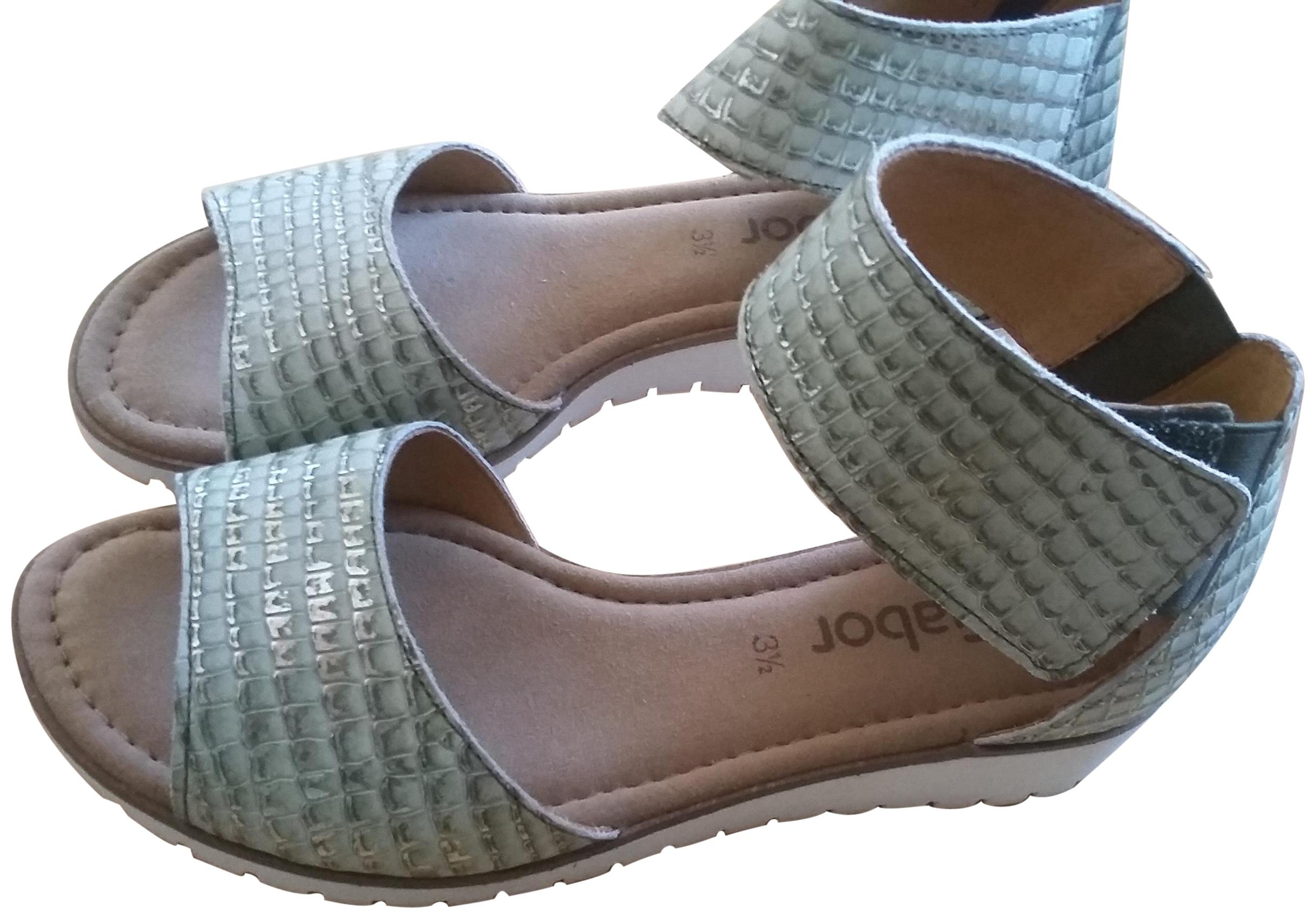 d0e05244a1a6 Gabor Mint Green Kiwi Kroko Piccolo Sandals Size Size Size EU 36 (Approx. US  6) Regular (M