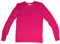 Gap 100% Cotton V-neck Pink Light Weight Sweater
