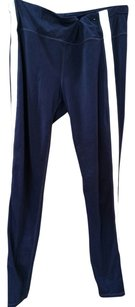 Gap Fit Navy with White Stripe down side of Thigh Leggings