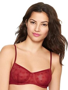 Gap 32B Star Lace Underwire Balconette Bra Red Spice 32 B NWT $39.50