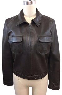 Gap Leather Two Pocket Brown Jacket