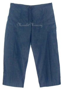 Garnet Hill Chambray New Without Tags Capris Blue