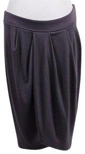 Garnet Hill Womens Petites Skirt Gray