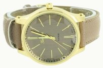 Geneva Coffee Leather Band Watch Gold Tone Geneva Joe Rodeo Jojo Style Analog
