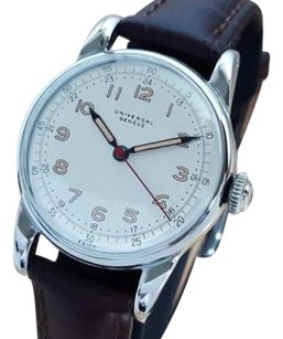 Geneve Universal Geneve 1950 Swiss Made Military Stainless Steel Mens Manual Watch La27