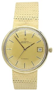 Geneve Vintage Universal Geneve Polerouter Automatic 14k Yellow Gold