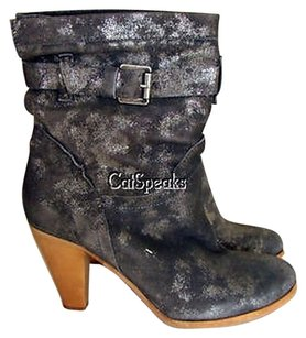 Geox Respira D Ludivine C Leather Pewter Boots