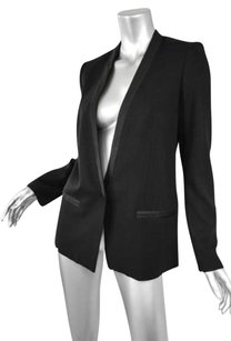 GERARD DAREL Womens Collarless Black Jacket