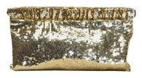 GERARD DAREL Sequin Gold Clutch
