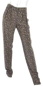 GERARD DAREL Womens Straight Print Silk Slacks Trousers Pants