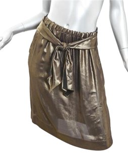 GERARD DAREL Womens Short Sheath Straight Skirt Gold