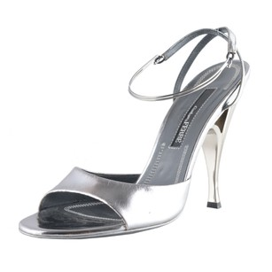 Gianfranco Ferre Ankle Strap Silver Sandals