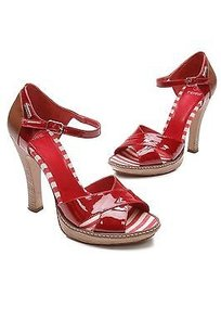 Gianfranco Ferre Red Patent Red, beige Sandals