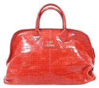 Gianfranco Ferre Gf Leather Tote in red