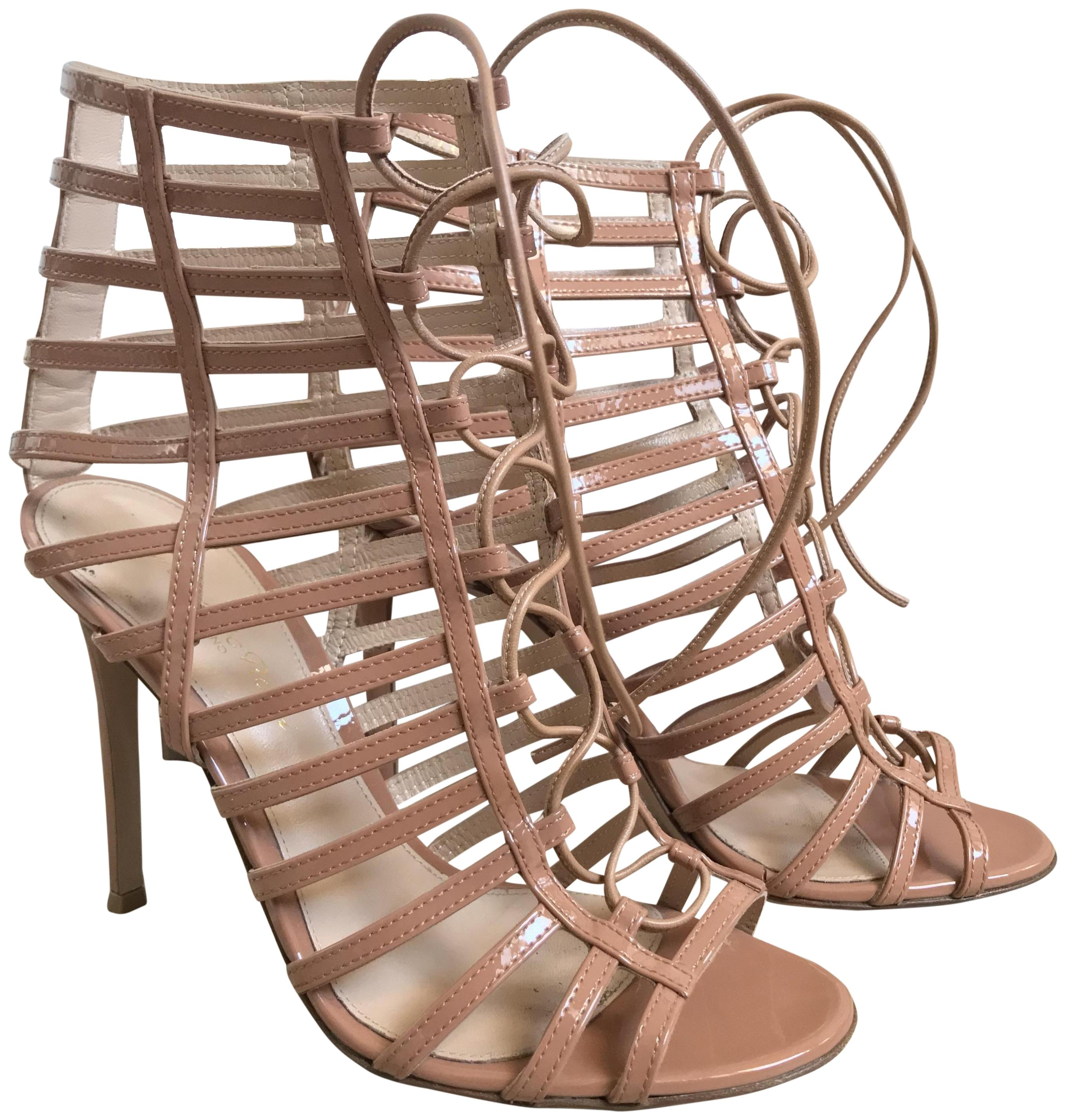 Gianvito Rossi Beige G30638.15ric.verpowd Sandals Size EU 37 (Approx. US 7) Regular (M, B)