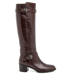 Gianvito Rossi Leather Buckle Riding Eu Chocolate Brown Boots