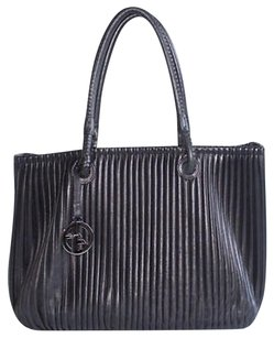 Giorgio Armani Pleated Tote in Black