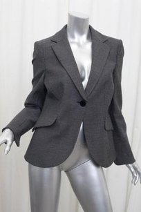 Giorgio Armani Giorgio Armani Womens Black Houndstooth Single-button Blazer Jacket Coat 448