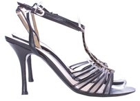 Giorgio Armani Leather Black Sandals