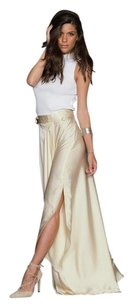 Giovanni M Maxi Skirt Beige White
