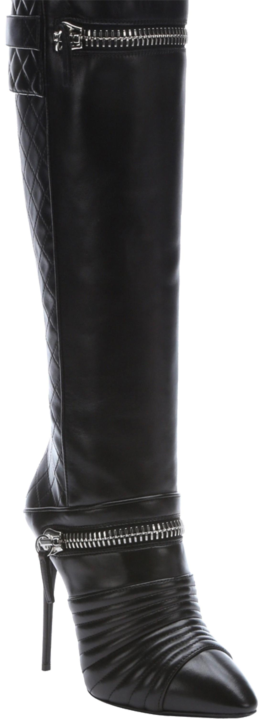 Giuseppe Zanotti Black Olinda Zipper Knee High Boots/Booties Size EU 39 (Approx. US 9) Regular (M, B)