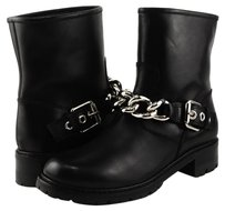 Giuseppe Zanotti Glamour Leather Block Black Boots