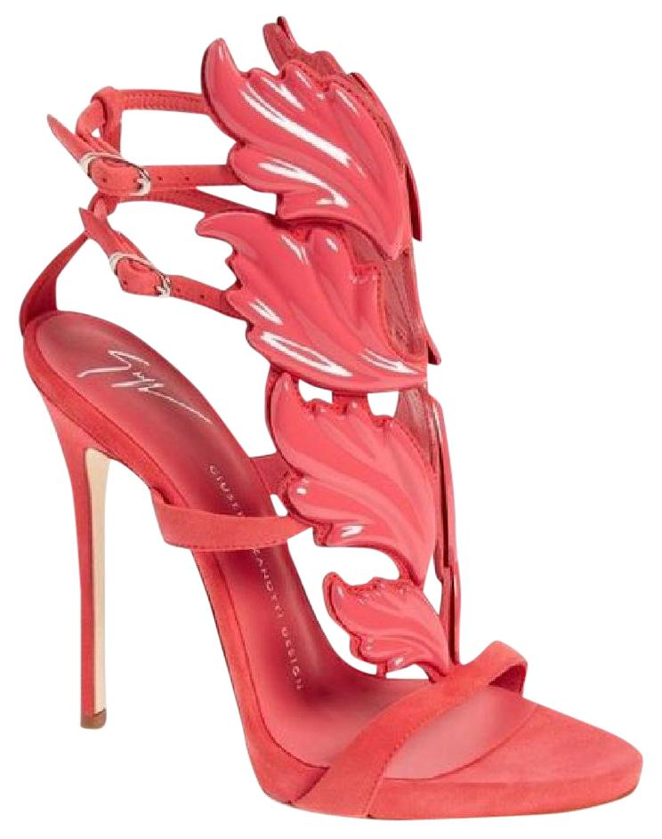 827144ed54f00 Giuseppe Zanotti Pink Winged Cruel Sandals Size EU 36.5 (Approx. US 6.5)  Regular