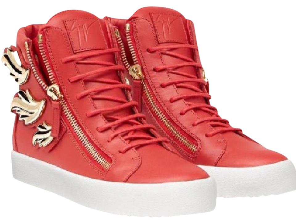 92b7363366a3 Giuseppe Zanotti Red Gold New New New Men  039 s 41 5 Sneakers Size ...