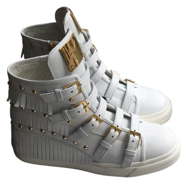 Giuseppe Zanotti White Gold Sneakers Size US 10 Regular (M, B)
