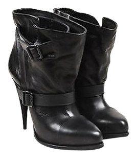 Givenchy Leather Buckle Black Boots
