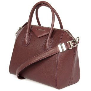 Givenchy Antigona Sugar Goatskin Tote in Burgundy