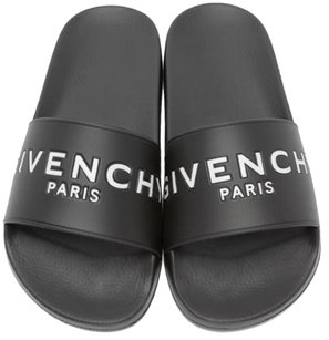 Givenchy Black Logo Slides Sandals