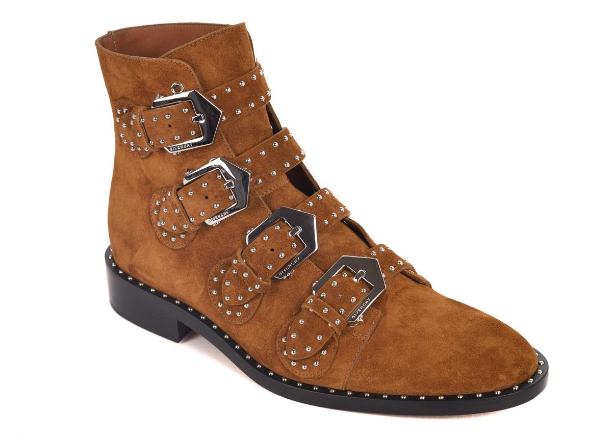 Givenchy Brown Suede Cognac Elegant Studded Ankle Boots/Booties Size US 9 Regular (M, B)