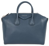 Givenchy Classic Leather Textured Pebbled Tote in Night Blue