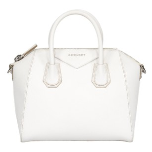 Givenchy Classic Leather Textured Pebbled Tote in White