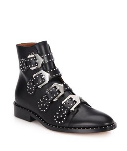 Givenchy Luxury Italian Studded Leather Black Boots
