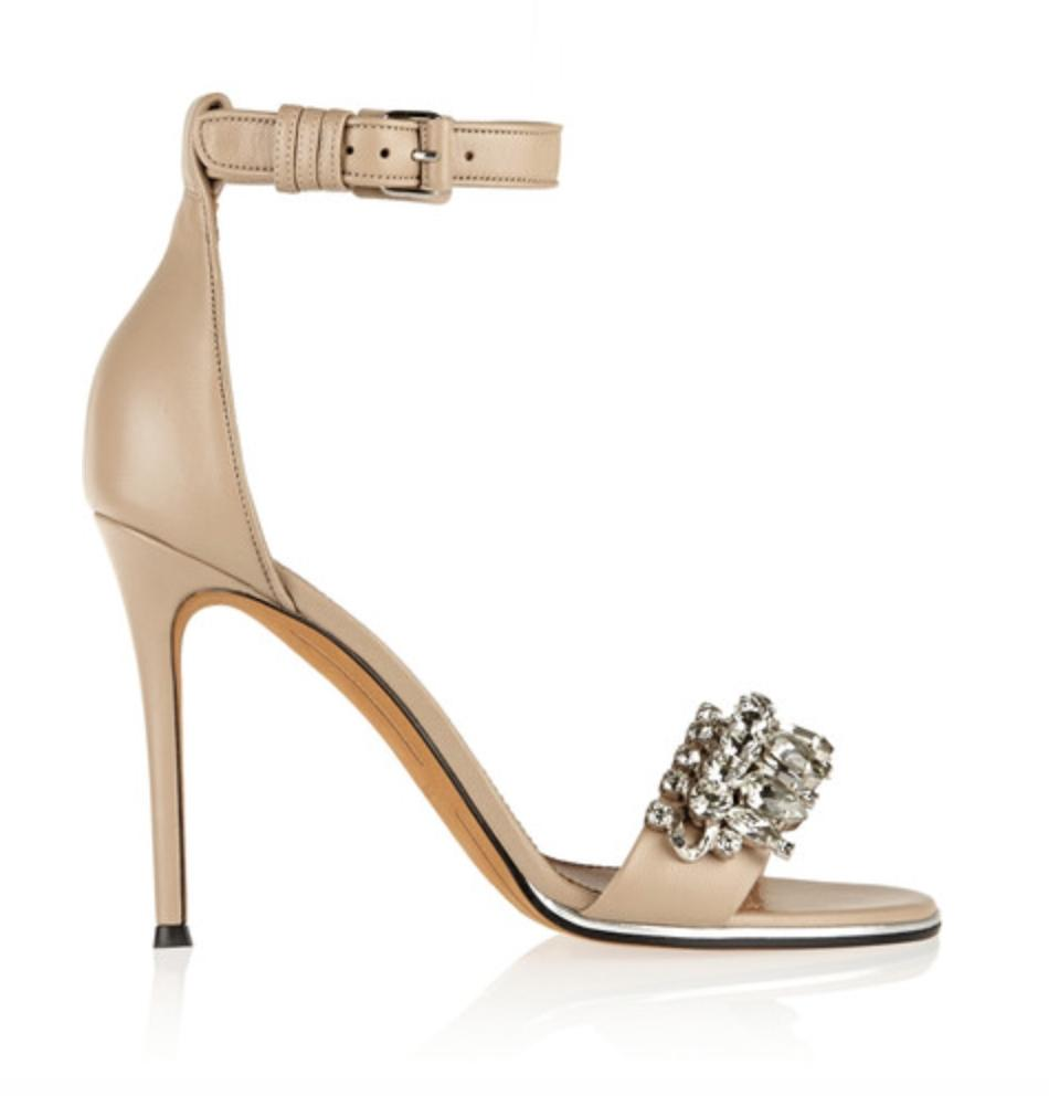 Givenchy Nude Monia Leather with Crystals Sandals Size US 6 Regular (M, B)