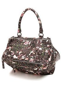 Givenchy Flower Camo Print Satchel in Black, multicolor