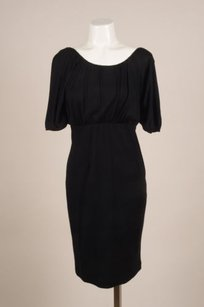Givenchy Black Jersey Wool Dress