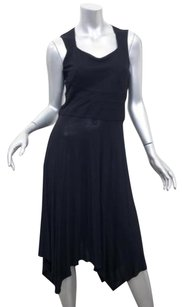 Givenchy short dress Black Womens Knit Silk Blend Sleeveless Asymmetrical Hem Shift on Tradesy