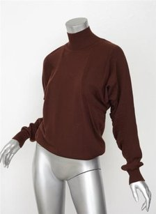 Givenchy Womens Mockneck Turtleneck Slouchy Ruched Sleeve Sweater