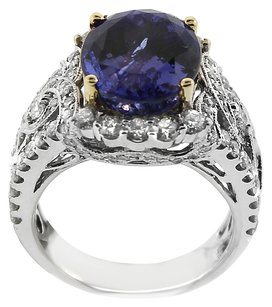 NWT 14K WHITE GOLD 1.60CT DIAMOND AND TANZANITE RING